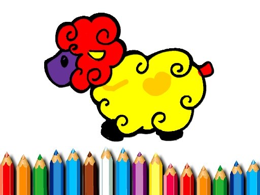 Baby Sheep Coloring Book Online Online